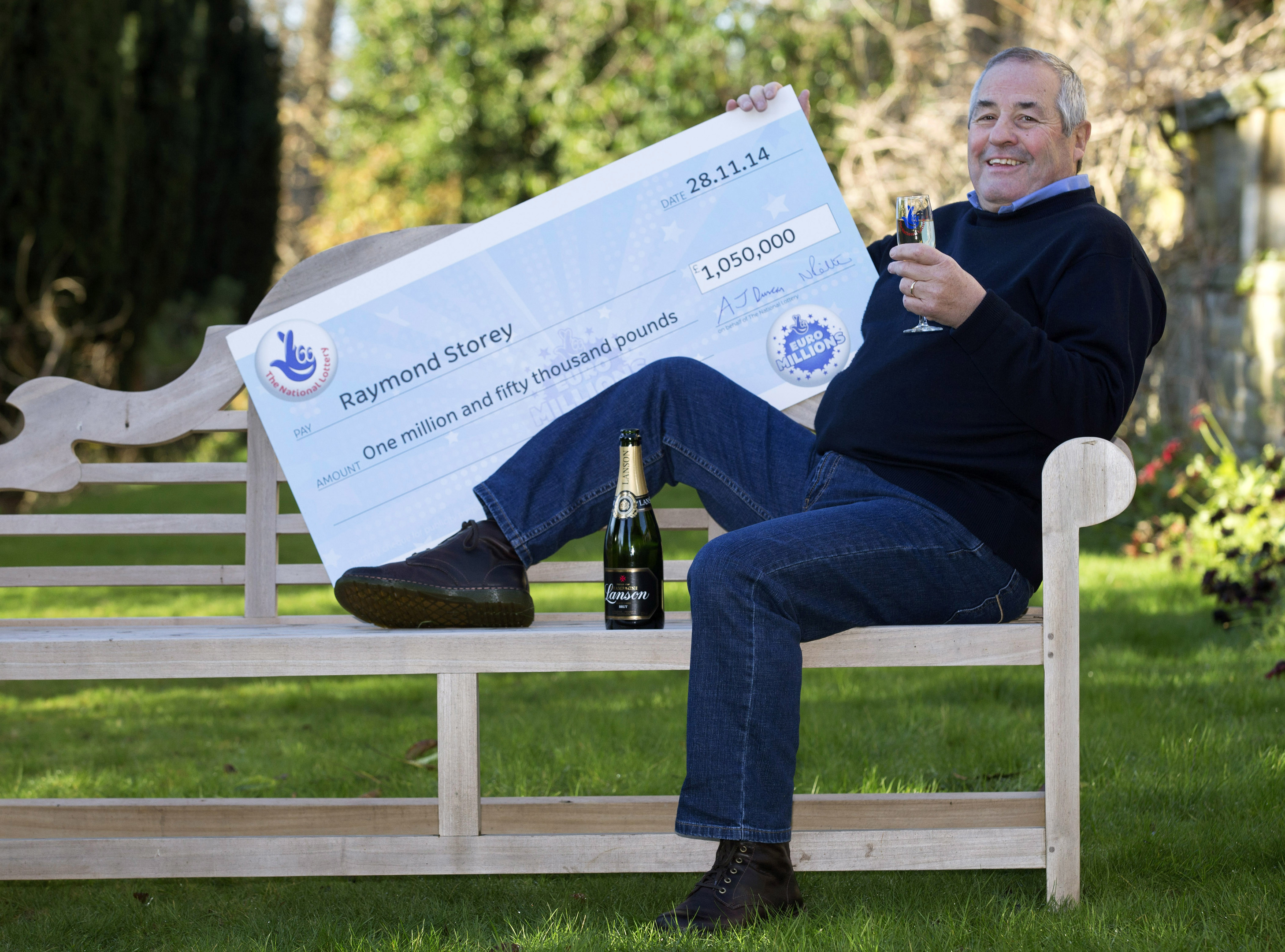 Raymond Storey, from Dundee, who won big in the lottery.