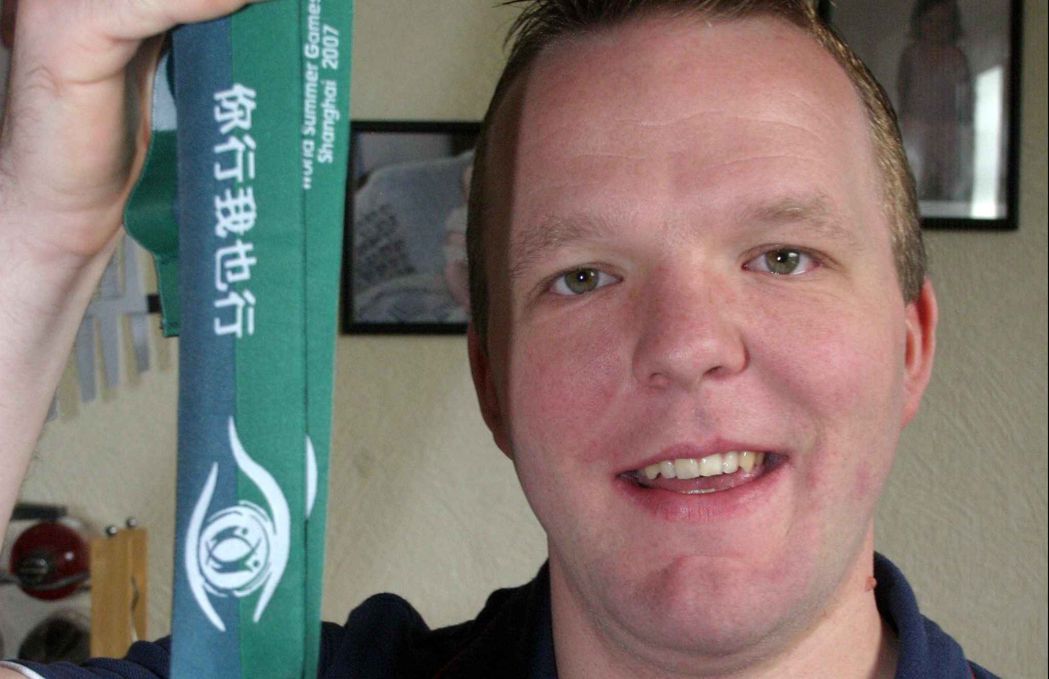 Andrew Gray won gold at the Shanghai World Special Olympics.