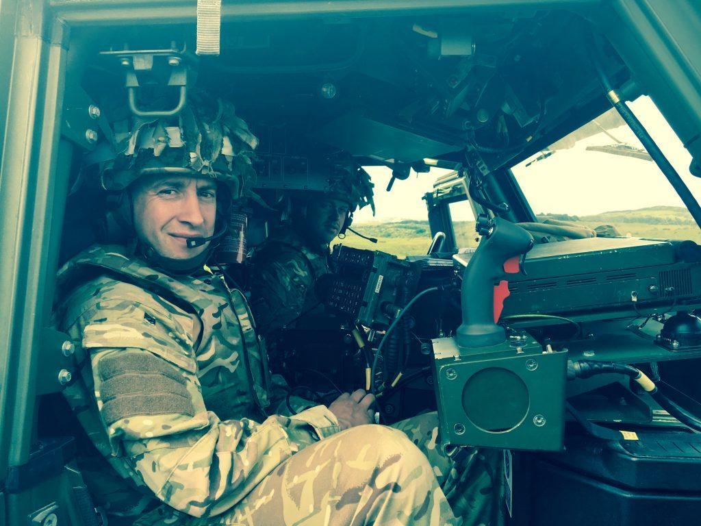 SCOTS DG commanding officer, Lieutenant Colonel Dan Coombes