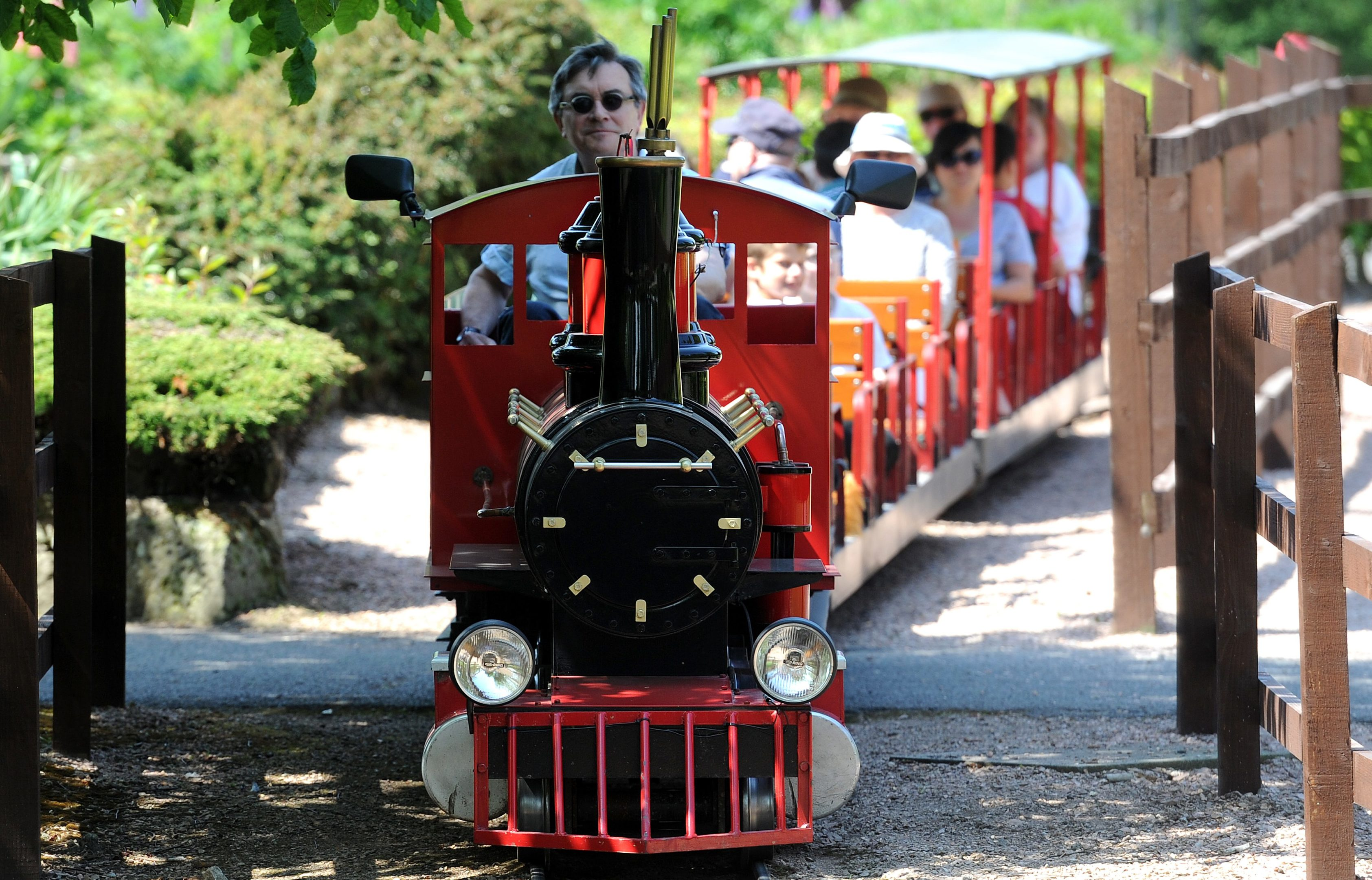 New Friends of Craigtoun Park volunteer Martin Dibbs is pictured driving the train at Craigtoun Country Park, St Andrews.