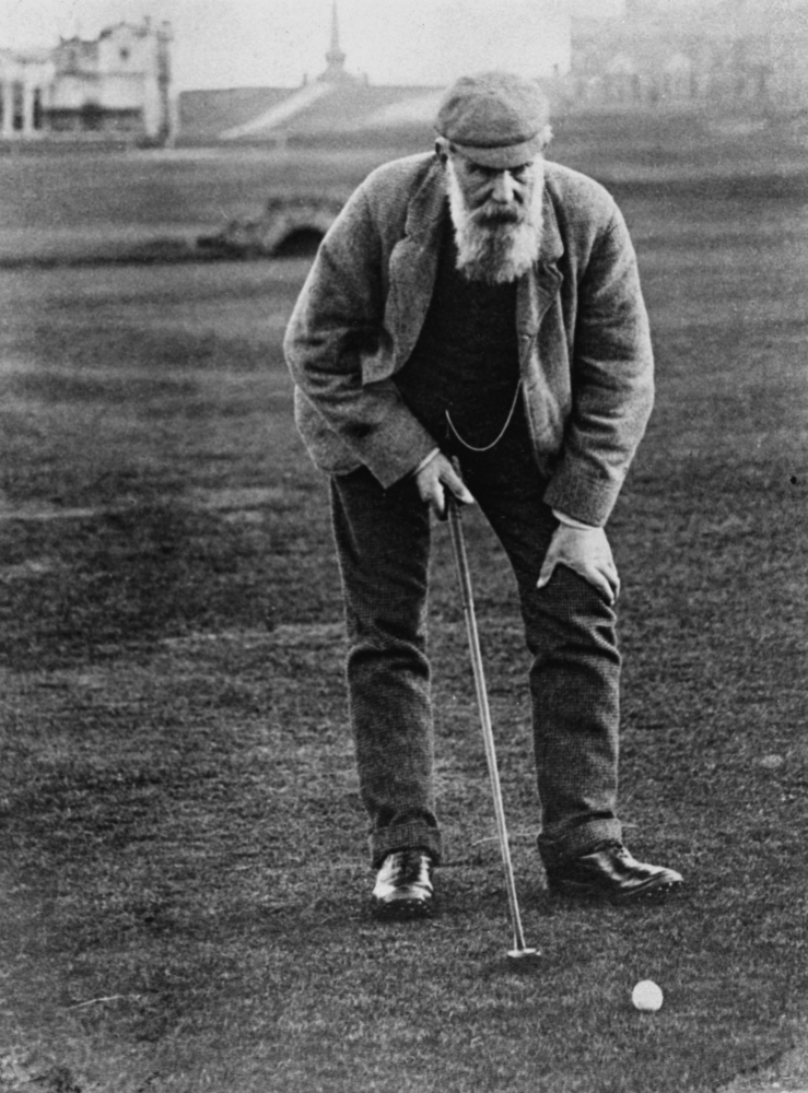 Old Tom on the Old Course in 1905