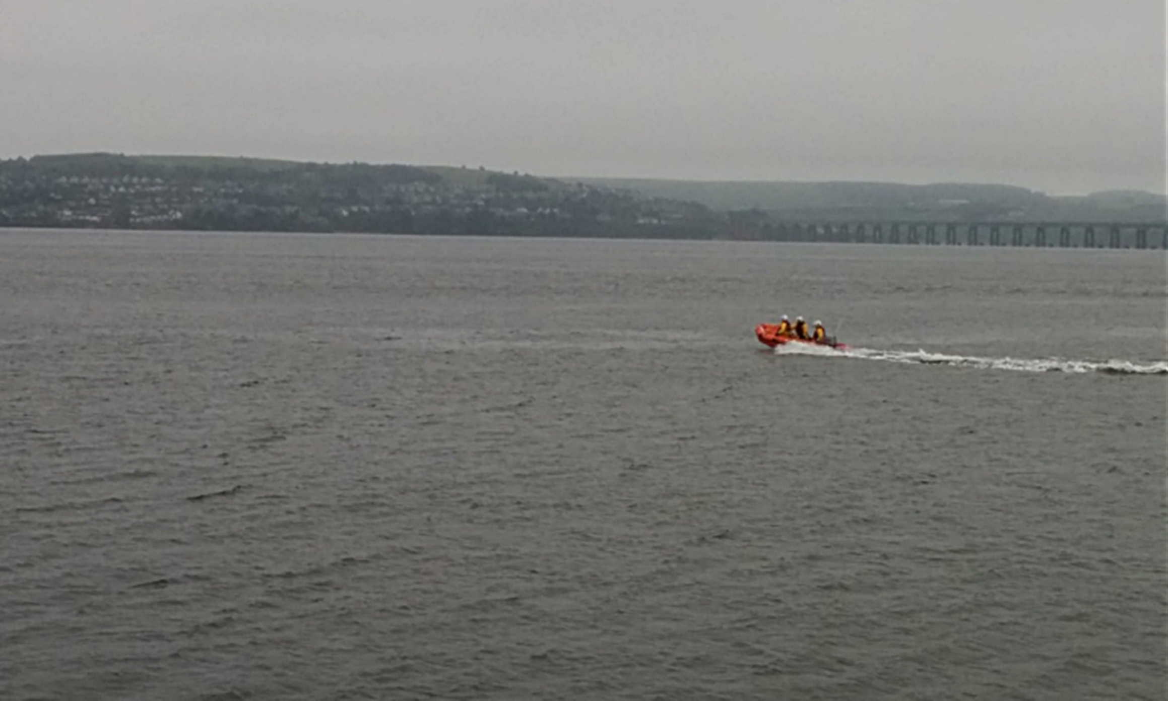 Broughty Ferry lifeboat had been searching the Tay
