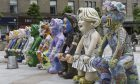 Oor Wullie sculptures, pictured in Dundee's City Square.