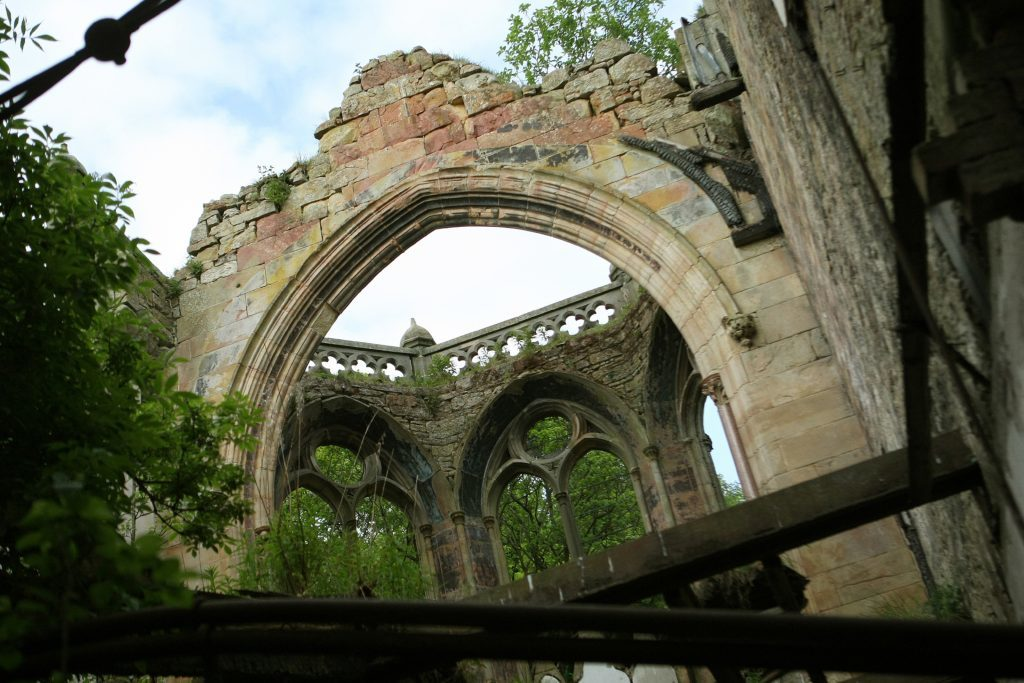 Crawford Priory radiates a sad, silent beauty.