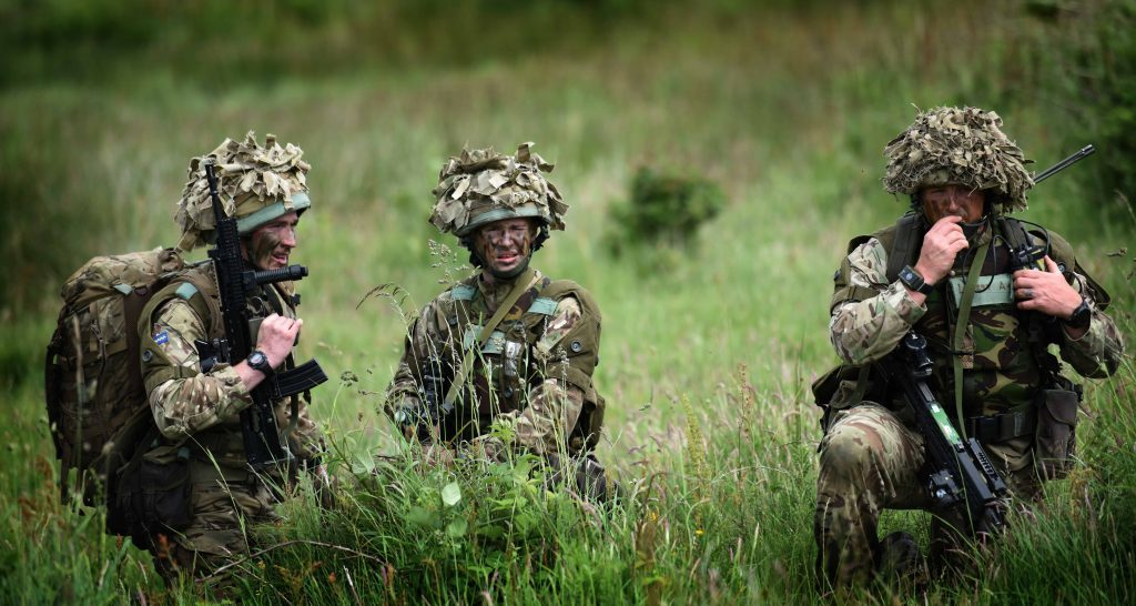 SCOTS DG taking part in Exercise Wessex Storm