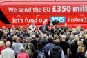 Vote Leave's referendum bus. Ian Duncan Smith says he did not repeat the £350 million for the NHS claim.