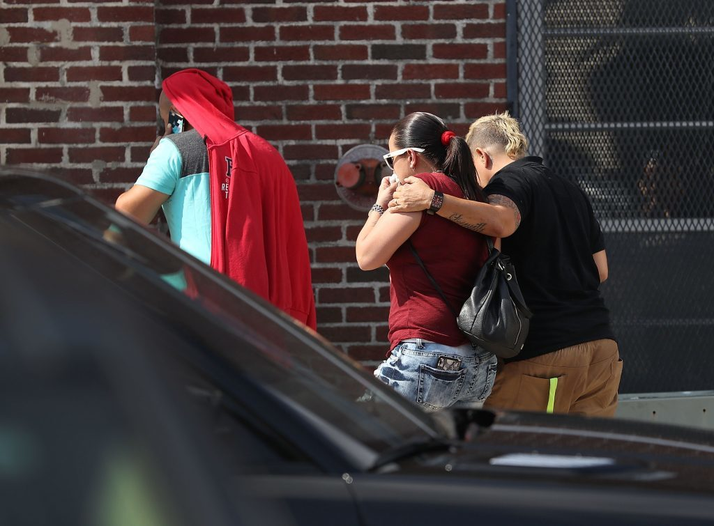 People arrive at the Beardall Senior Center to learn from authorities if their relative or friends were killed in the Pulse nightclub shooting,