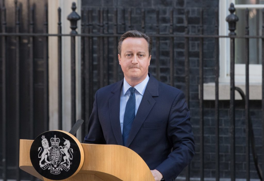 Leaving Number 10 — David Cameron.