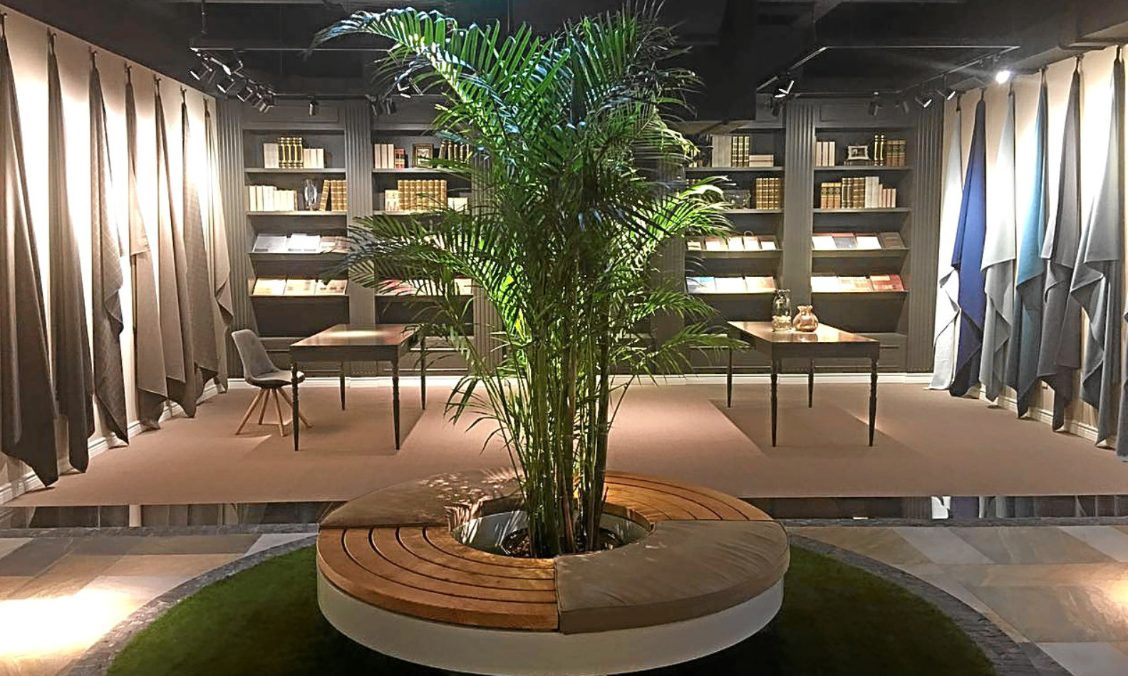 Thew new Shanghai showroom featuring Isle Mill textiles. The brand is part of Perth-based Macnaughton Holdings.