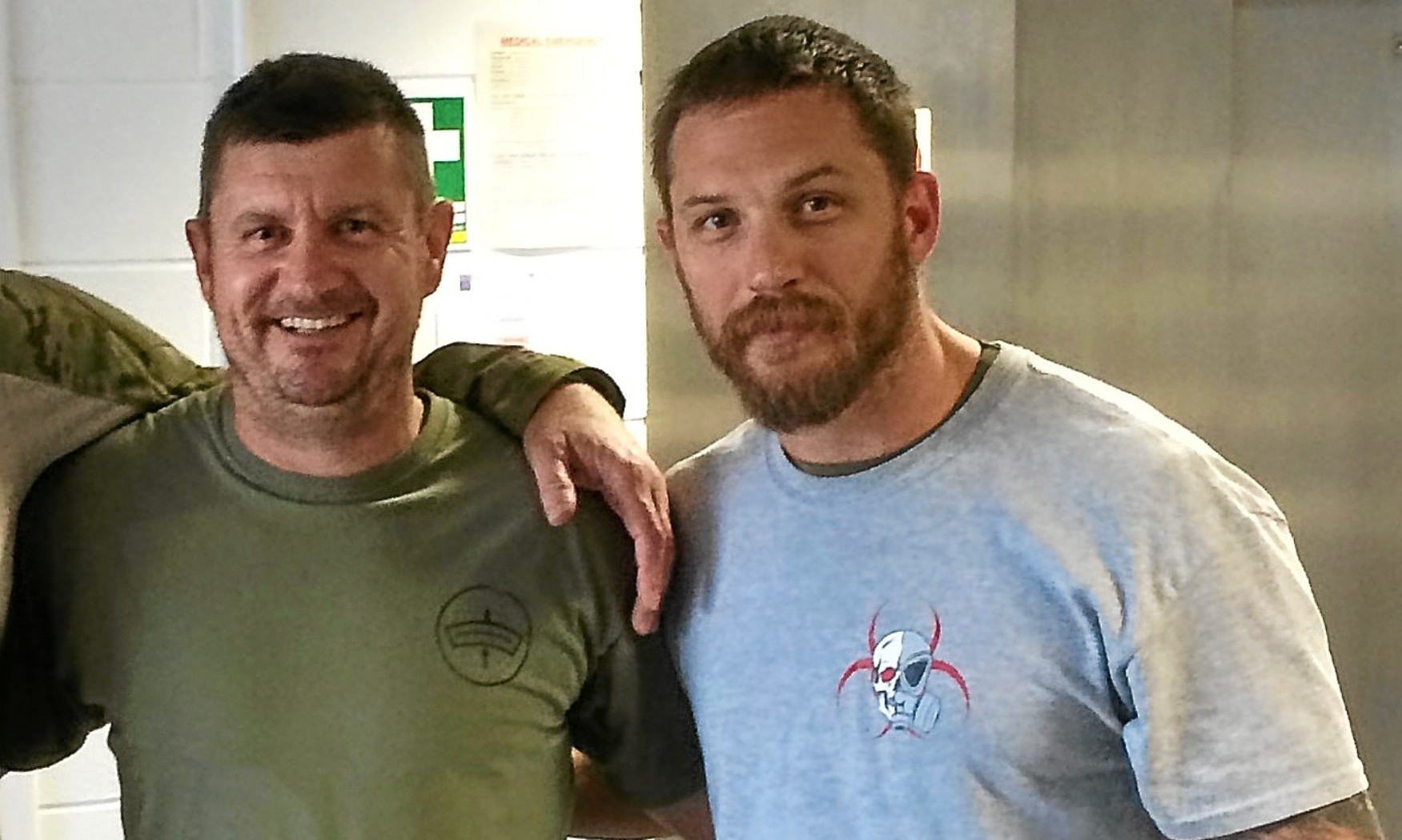 Paul Barrett of IED Training of Carnoustie with Tom Hardy