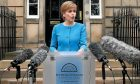 First Minister Nicola Sturgeon speaks to the media outside Bute House, Edinburgh, following an emergency Scottish cabinet meeting.