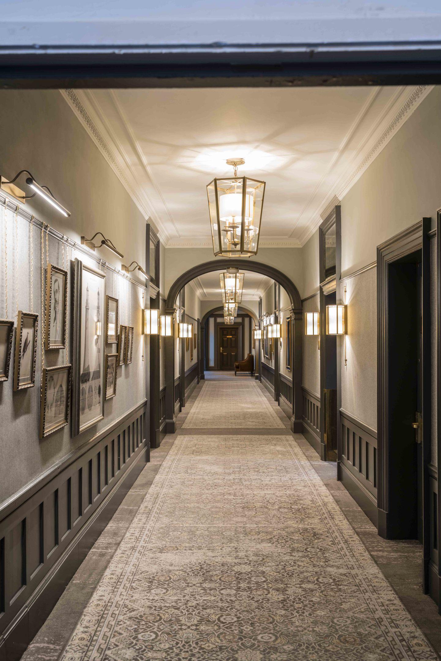 A new look corridor at Gleneagles.