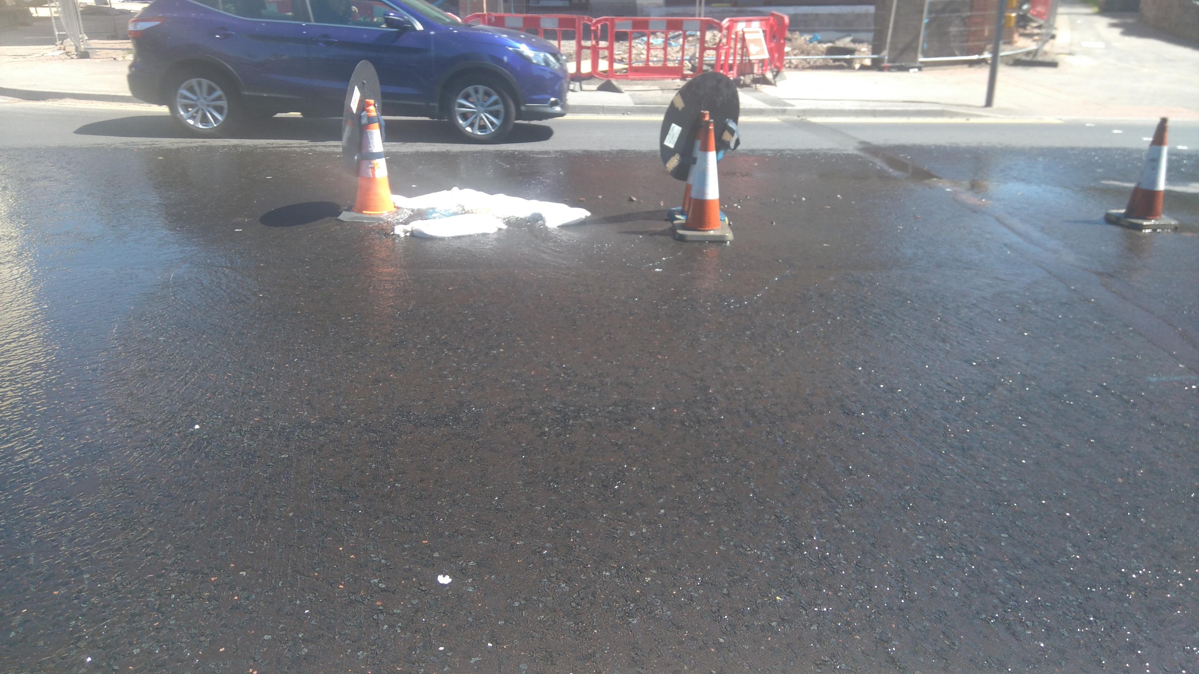 The leak on Dens Road.