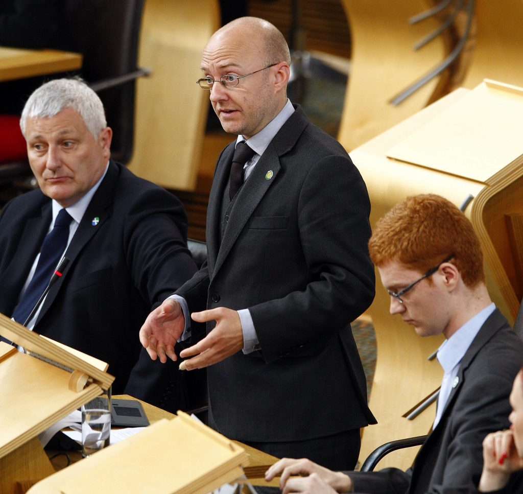 Scottish Green leader Patrick Harvie MSP replies to First Minister Nicola Sturgeon's statement to the Scottish Parliament on the Implications of the EU Referendum for Scotland. 28 June 2016. Pic - Andrew Cowan/Scottish Parliament