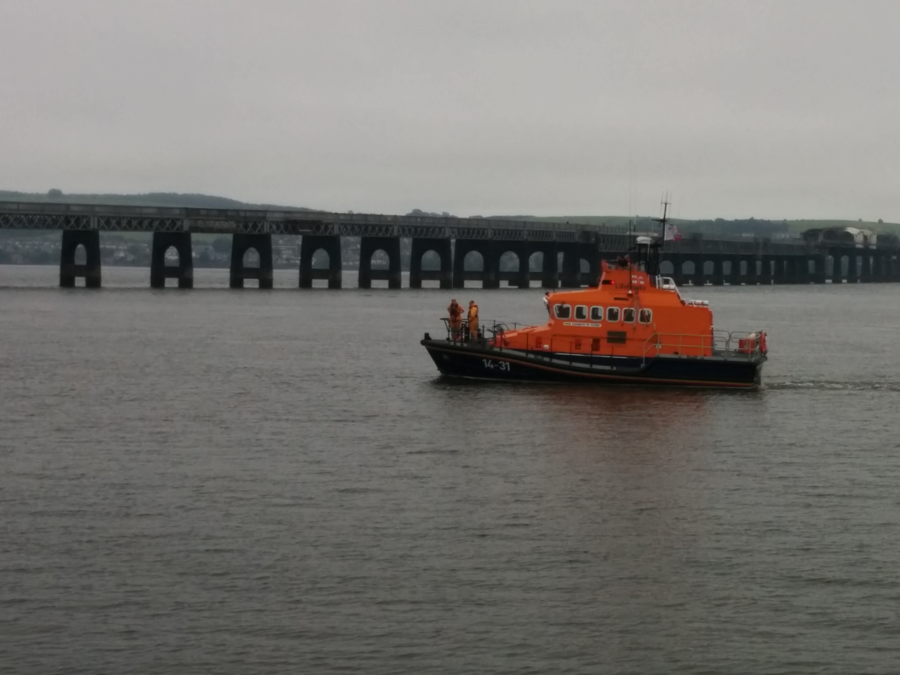 The Broughty Ferry lifeboat searches without success on Saturday.