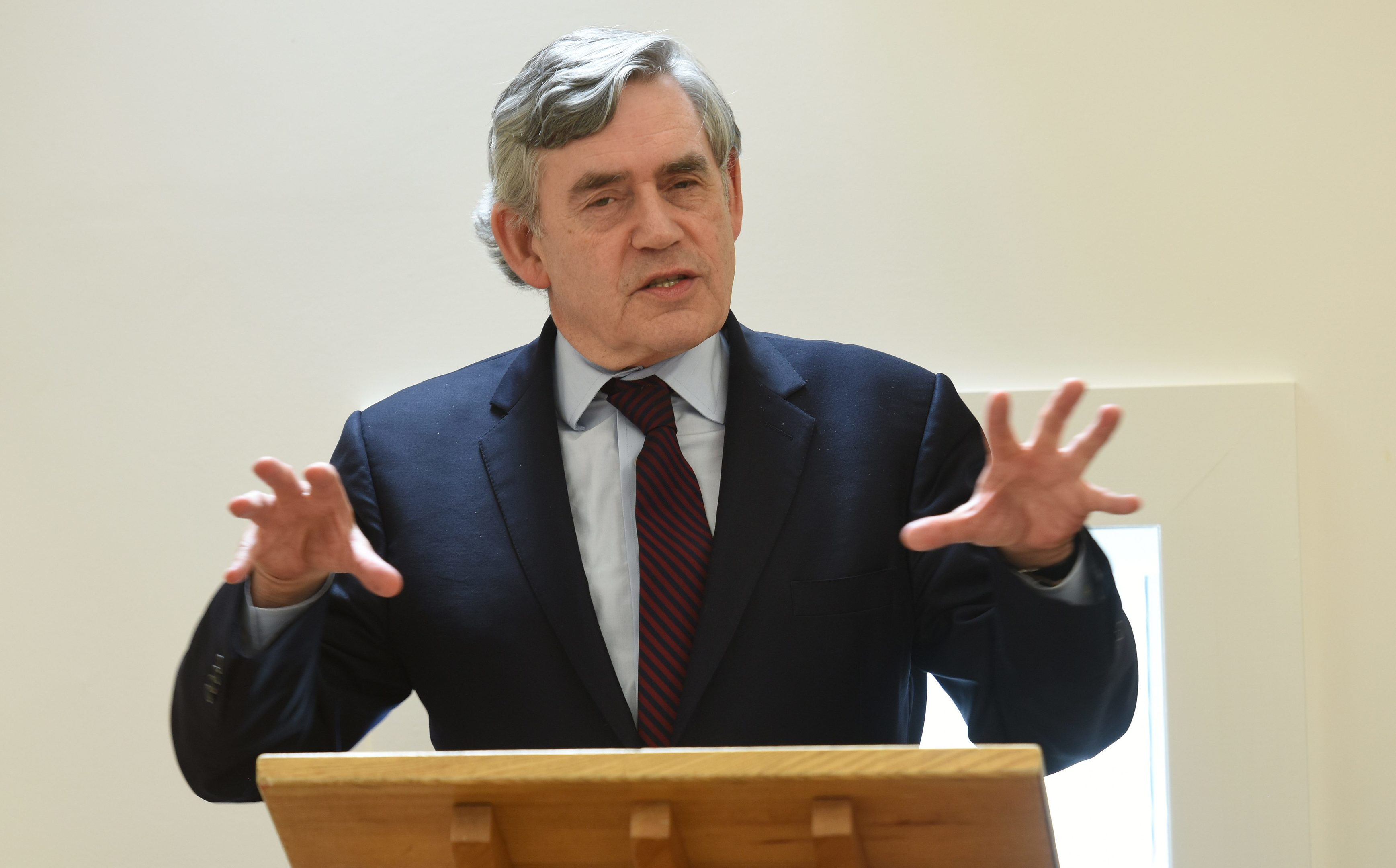 Gordon Brown marks the completion of the Adam Smith Heritage Centre in Kirkcaldy