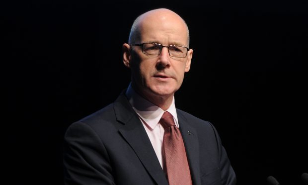 Courier News - Perth - National Strategic Leadership Summit on Child Protection opening address from Scottish Government ministers. Picture shows; John Swinney MSP addresses the summit, Perth Concert Hall, Perth, Friday, 03 June 2016