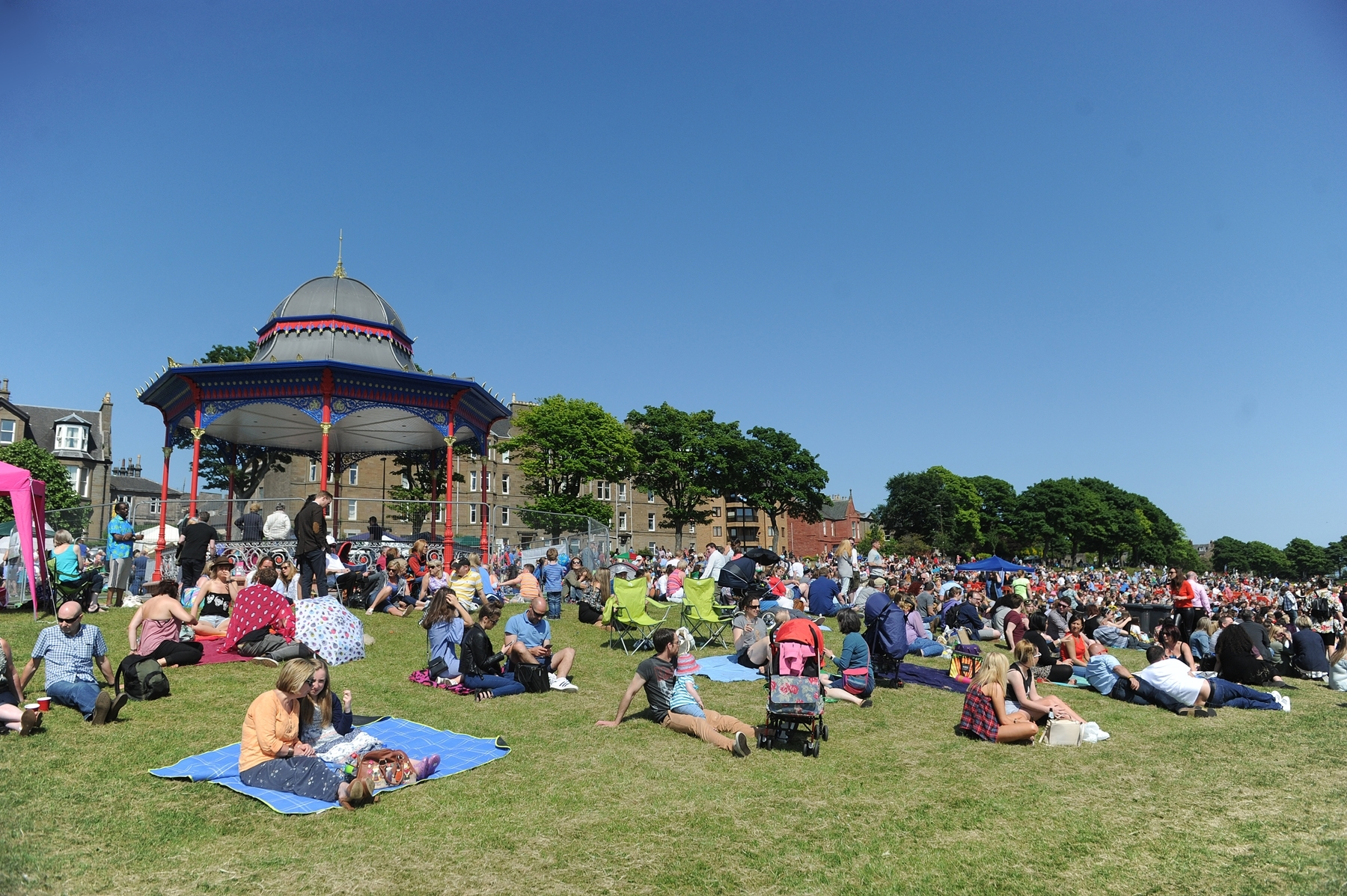 Crowds at last year's WestFest..