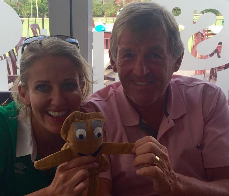 Aisling FitzGerald introduces Baxter to football legend Kenny Dalglish
