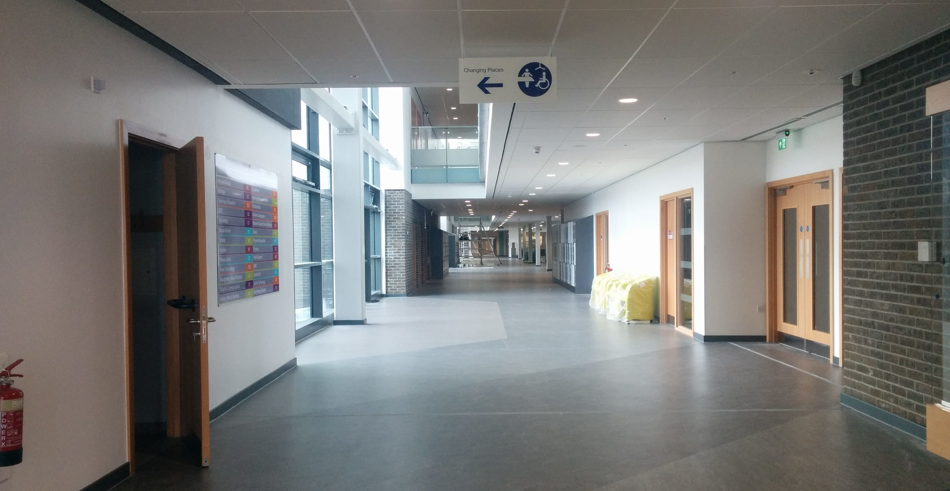 The impressive entrance to the new £44 million Levenmouth Academy.
