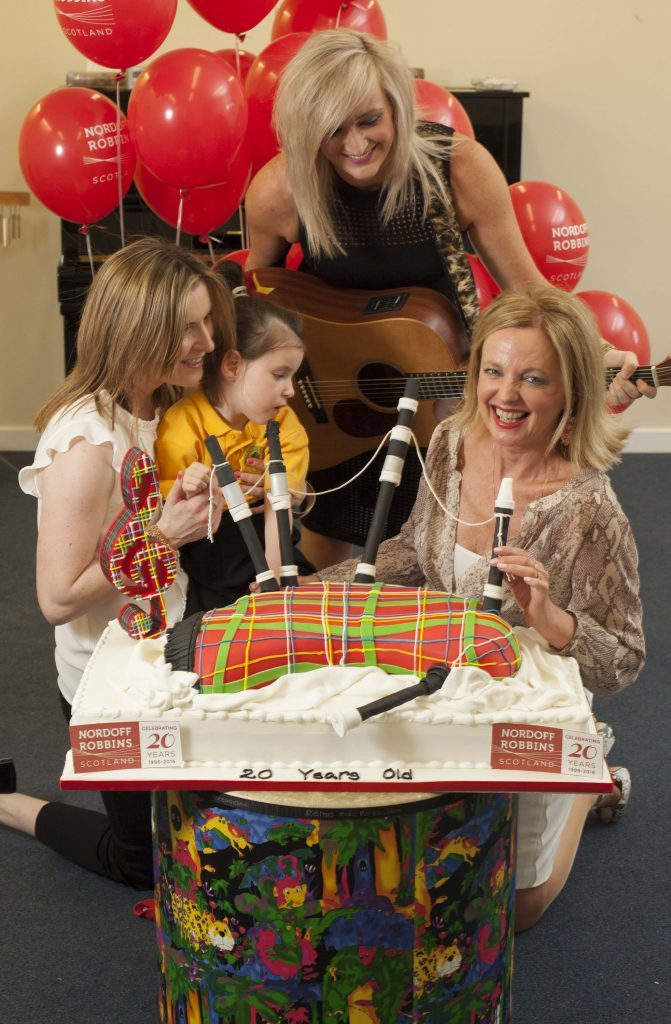 Clare Grogan of Altered Images right) helped Nordoff celebrate their recent 20th anniversary