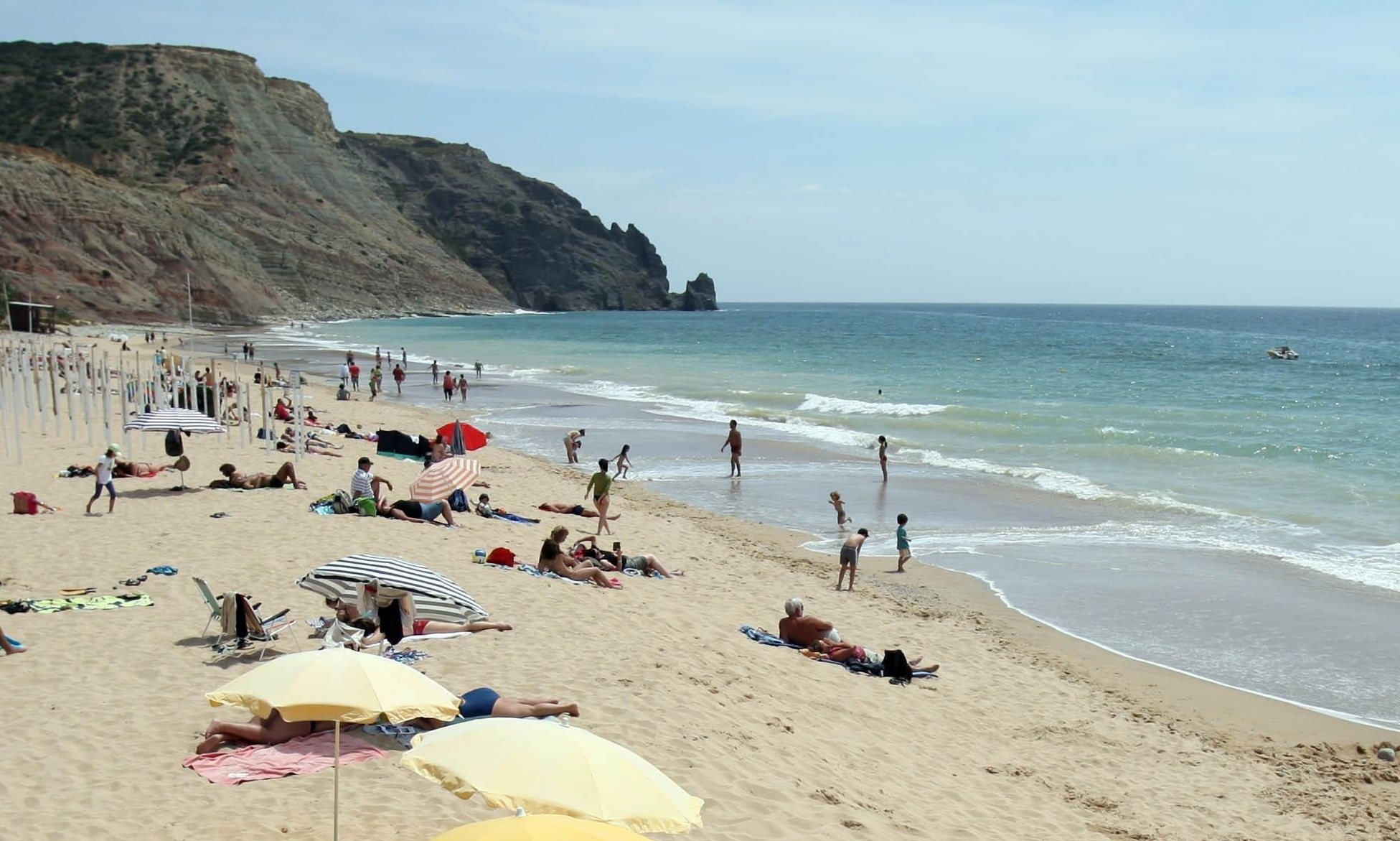 Holidaymakers soaking up the sun in Portugal.