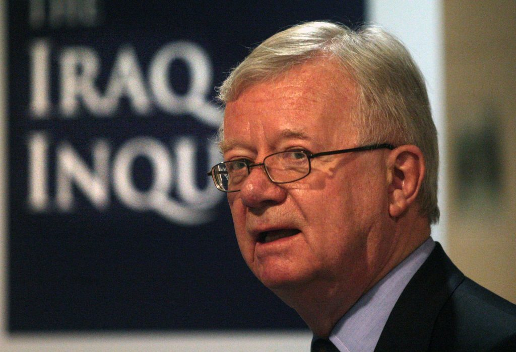 File photo dated 21/10/09 of Chairman of the Iraq Inquiry Sir John Chilcot. The long-awaited report of the Chilcot inquiry into Britain's role in the Iraq war will not be published until after the general election in May because of continuing delays in the process. PRESS ASSOCIATION Photo. Issue date: Wednesday January 21, 2015. Six years after the inquiry was created, panel chairman Sir John Chilcot will today set out his reasons why its findings still cannot be made public in an exchange of letters with Prime Minister David Cameron. Government sources indicated Mr Cameron will tell Sir John he would have liked the report to have been published already and certainly released before the election. See PA story POLITICS Chilcot. Photo credit should read: David Cheskin/PA Wire