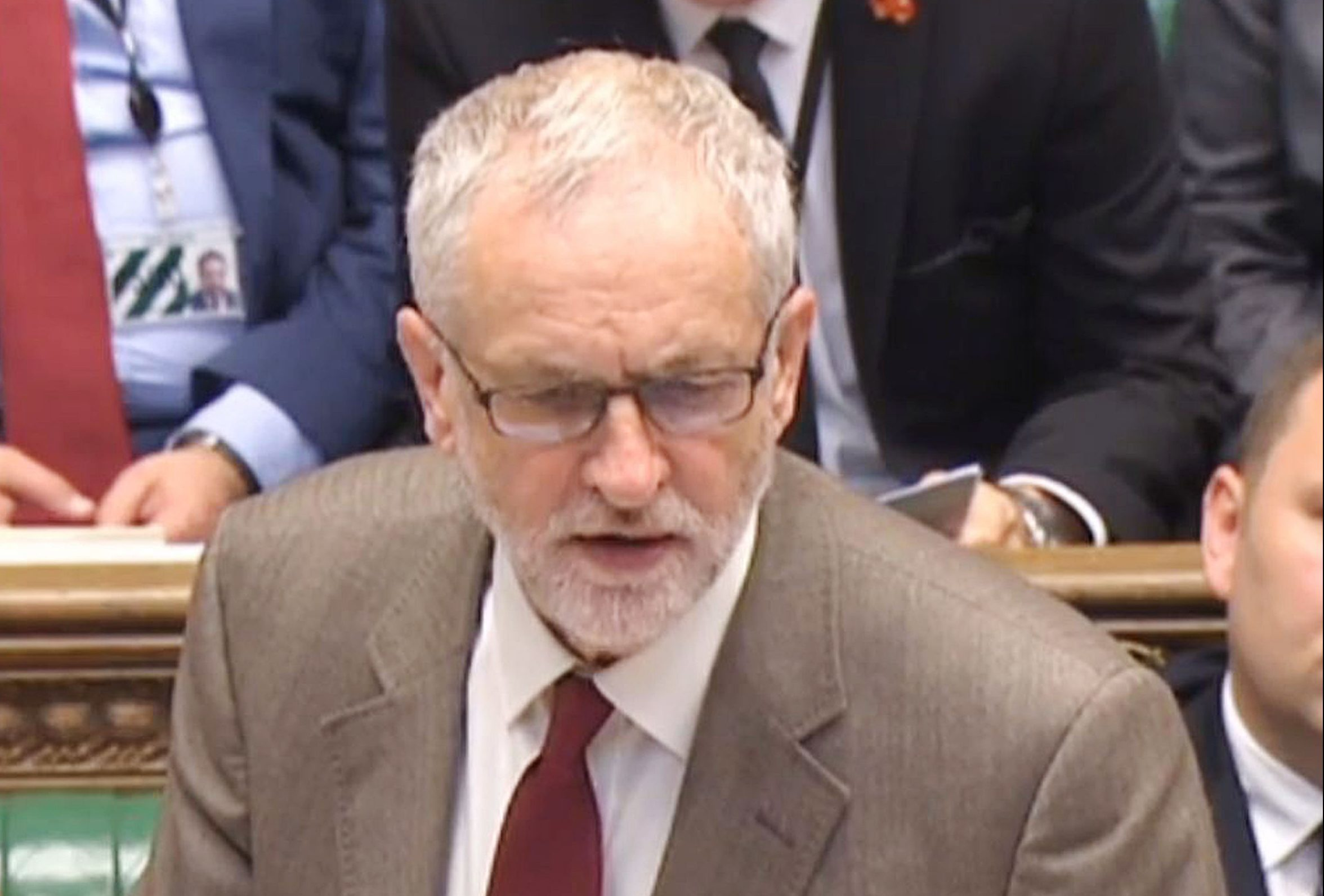 Labour leader Jeremy Corbyn speaking during Prime Minister's Questions.