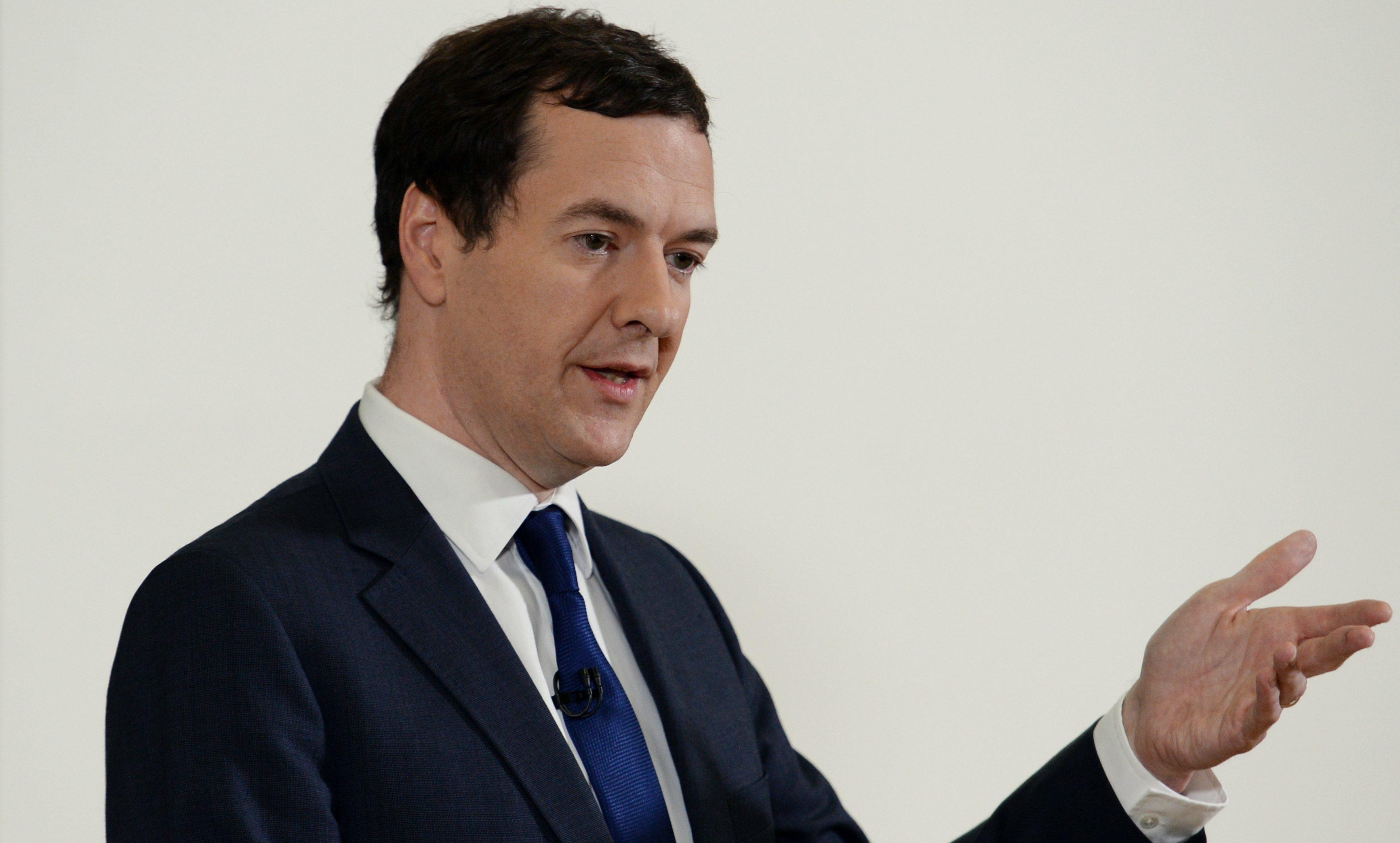 Chancellor George Osborne .