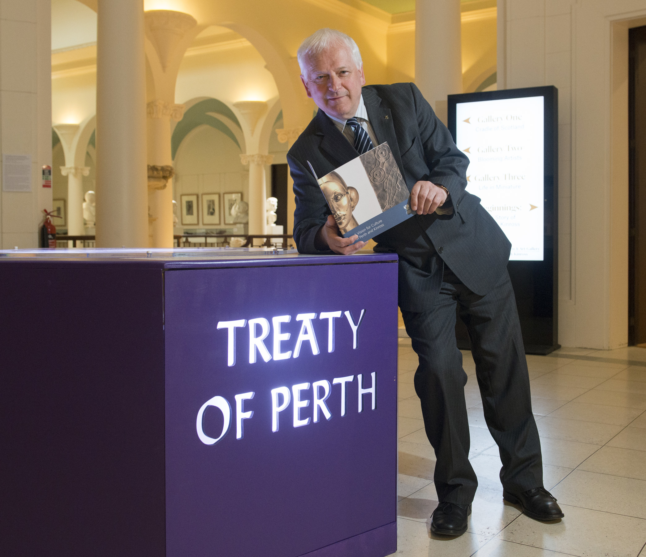 Councilor Ian Miller at Perth Museum today.