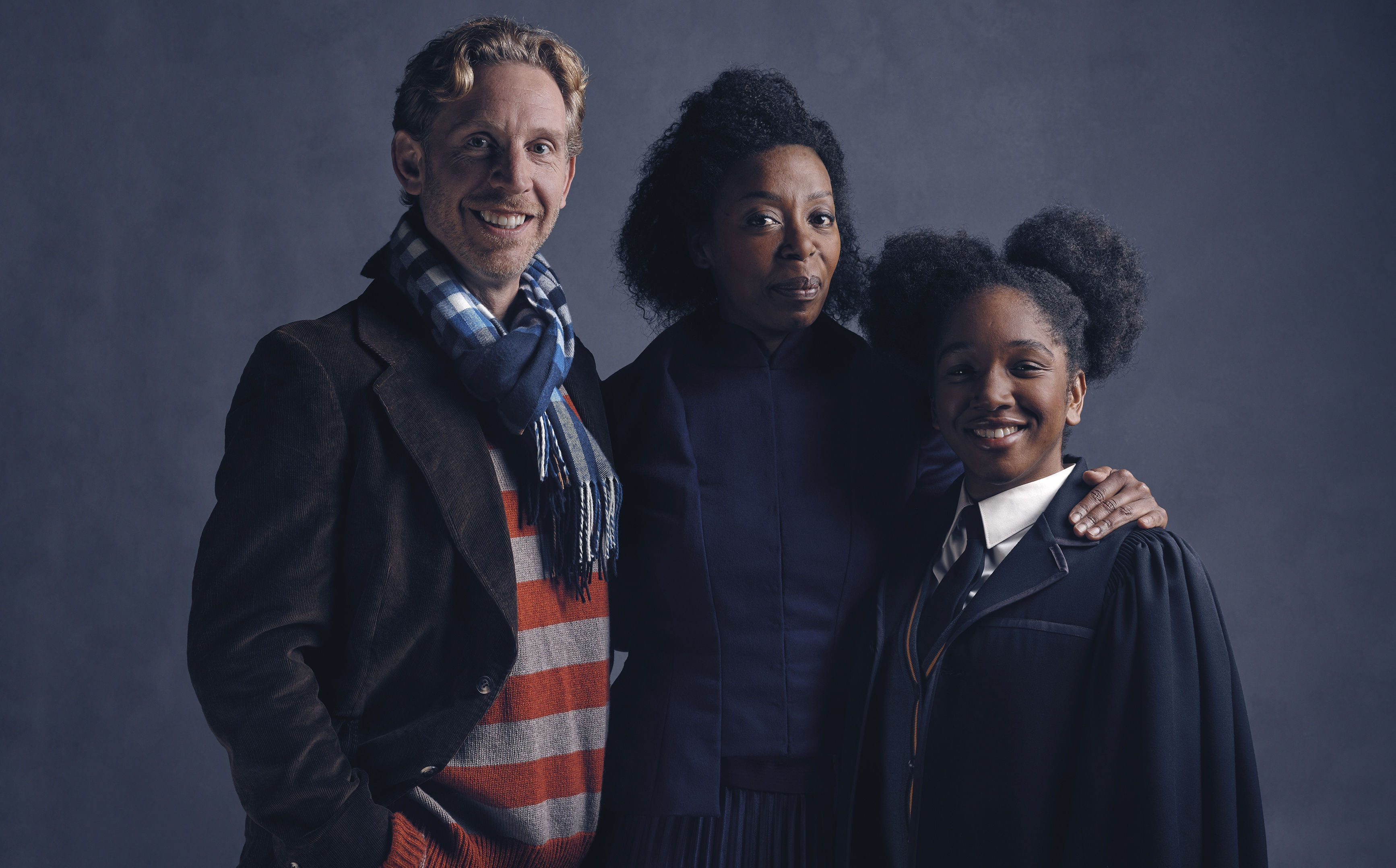 From left: Paul Thornley, Noma Dumezweni and Cherelle Skeete who will play Ron Weasley, Hermione Granger and Rose Granger-Weasley.