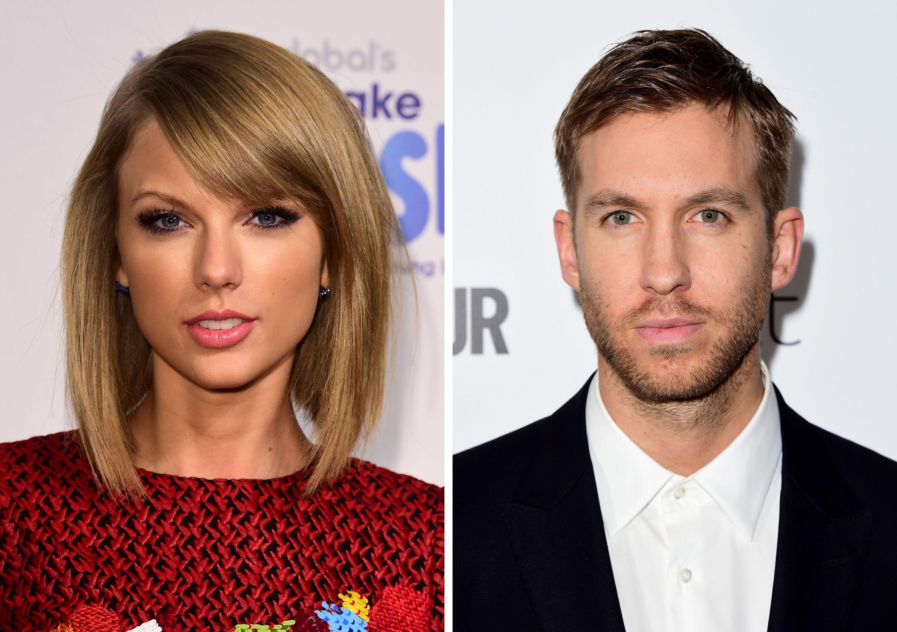 Taylor Swift and Calvin Harris.