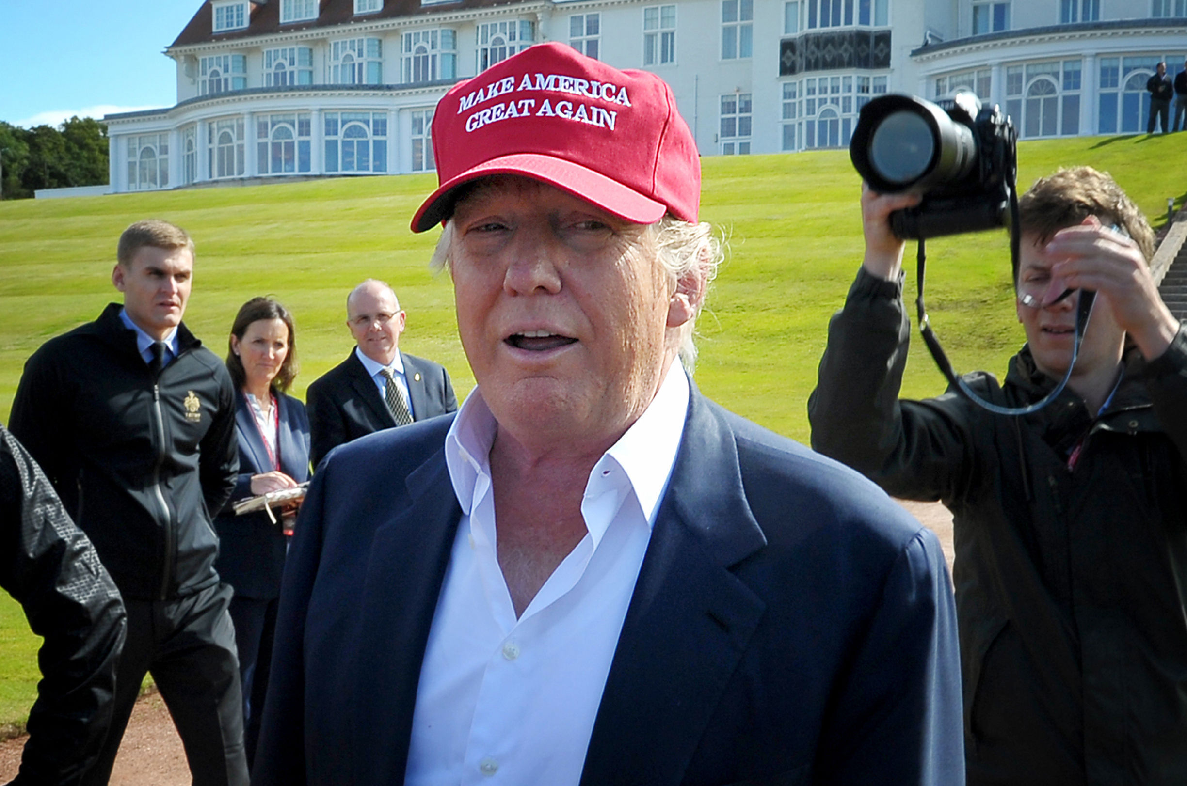 PA 	Donald Trump at Turnberry during the 2016 Presidential race