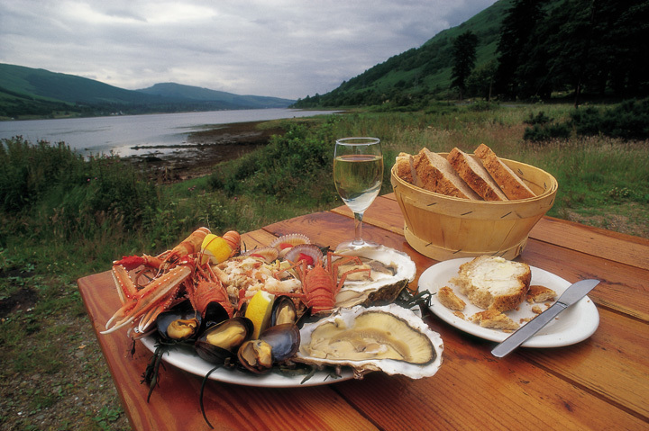 A platter of Scottish seafood
