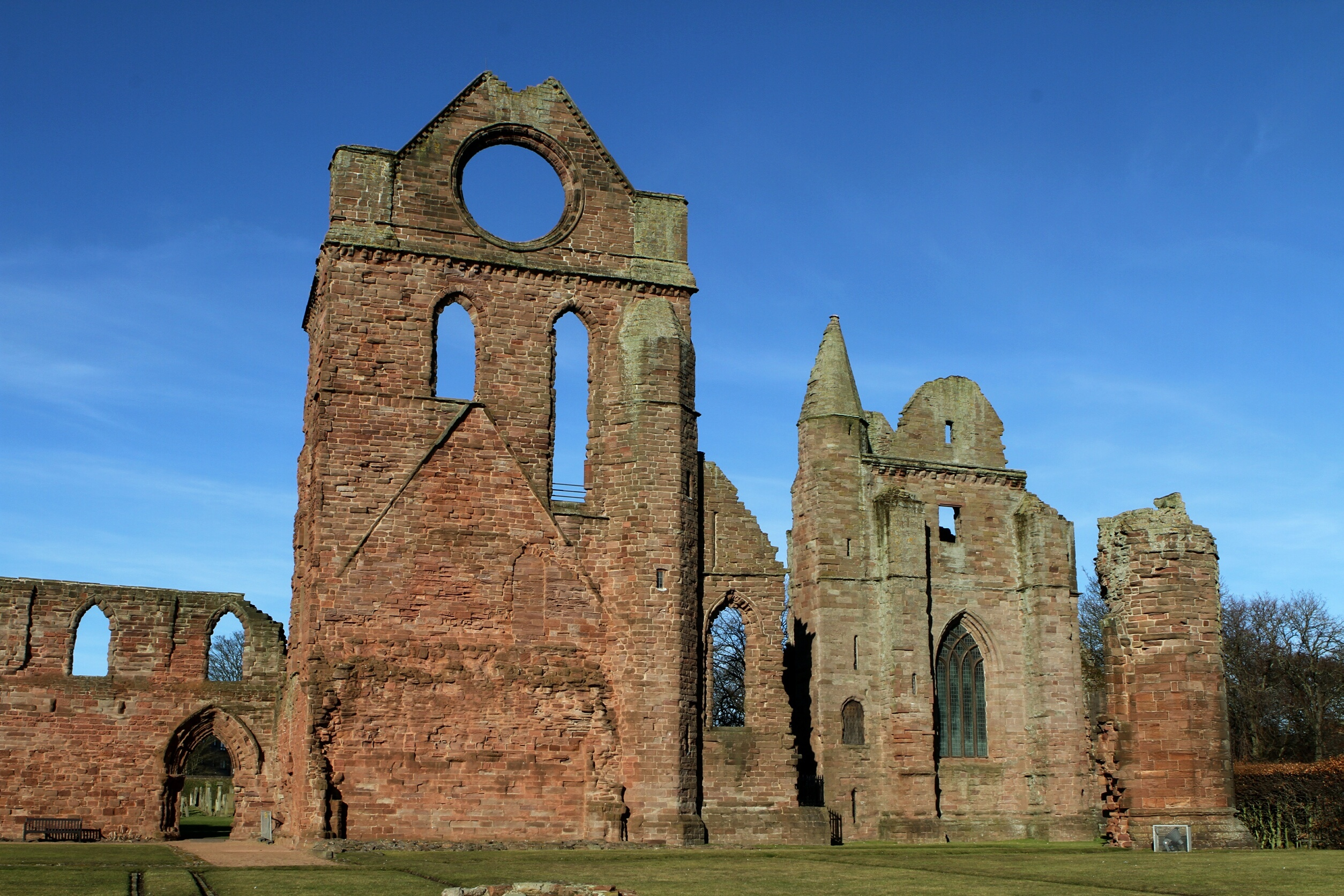Arbroath Abbey was hit by vandals