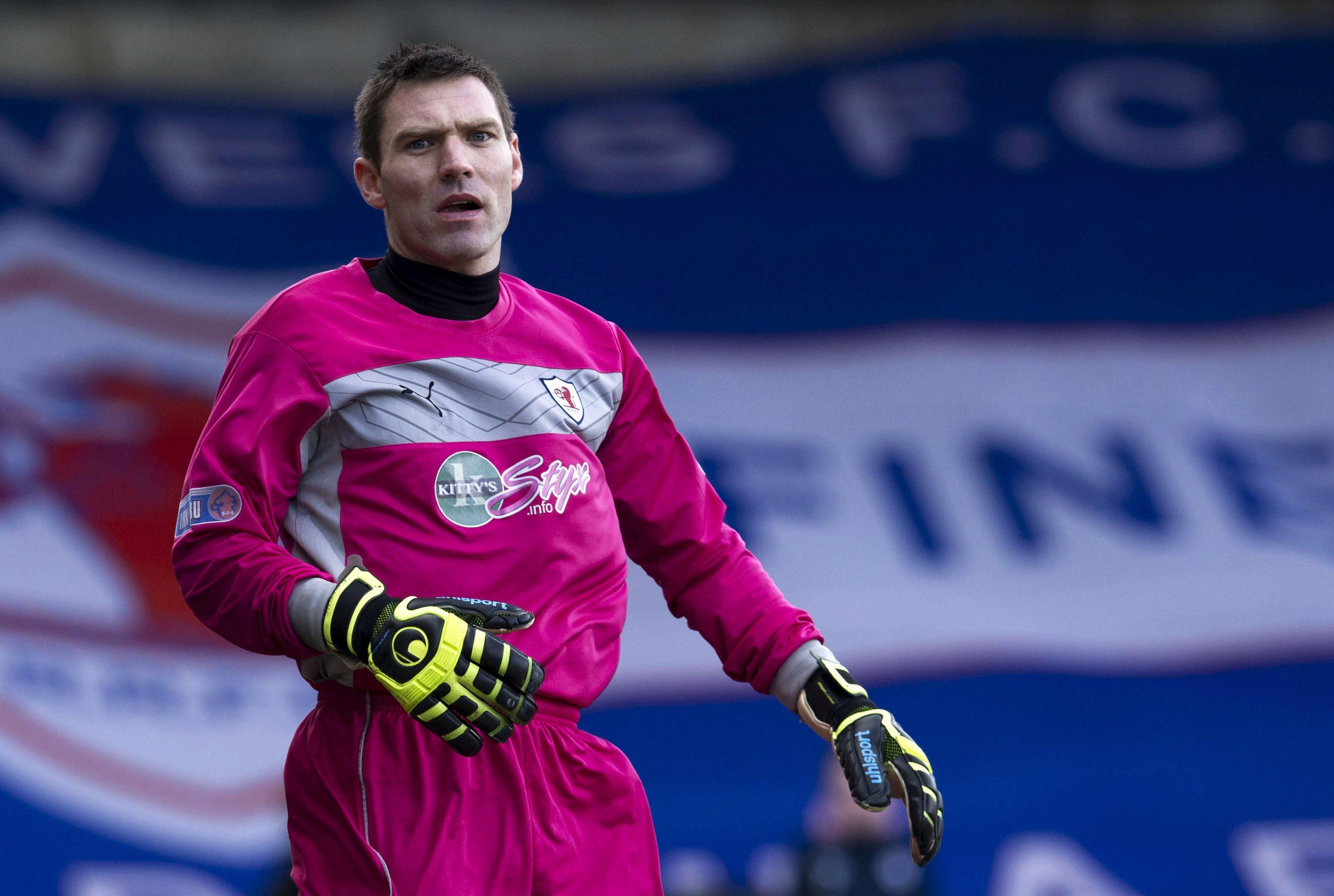 David McGurn in action for Raith Rovers.