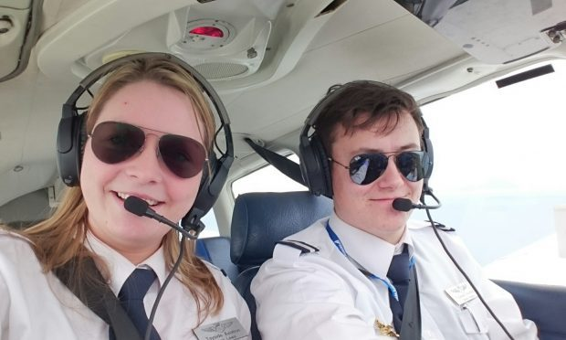 Mairi Lewis, with co-pilot Blake Neil.