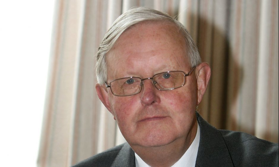 Former SNP leader, Gordon Wilson pictured at his Dundee home.