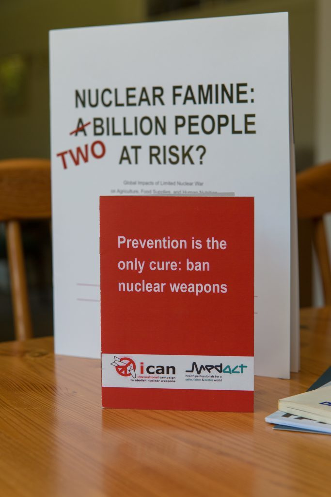 Some of the anti-nuclear reading material owned by Dr Judith McDonald