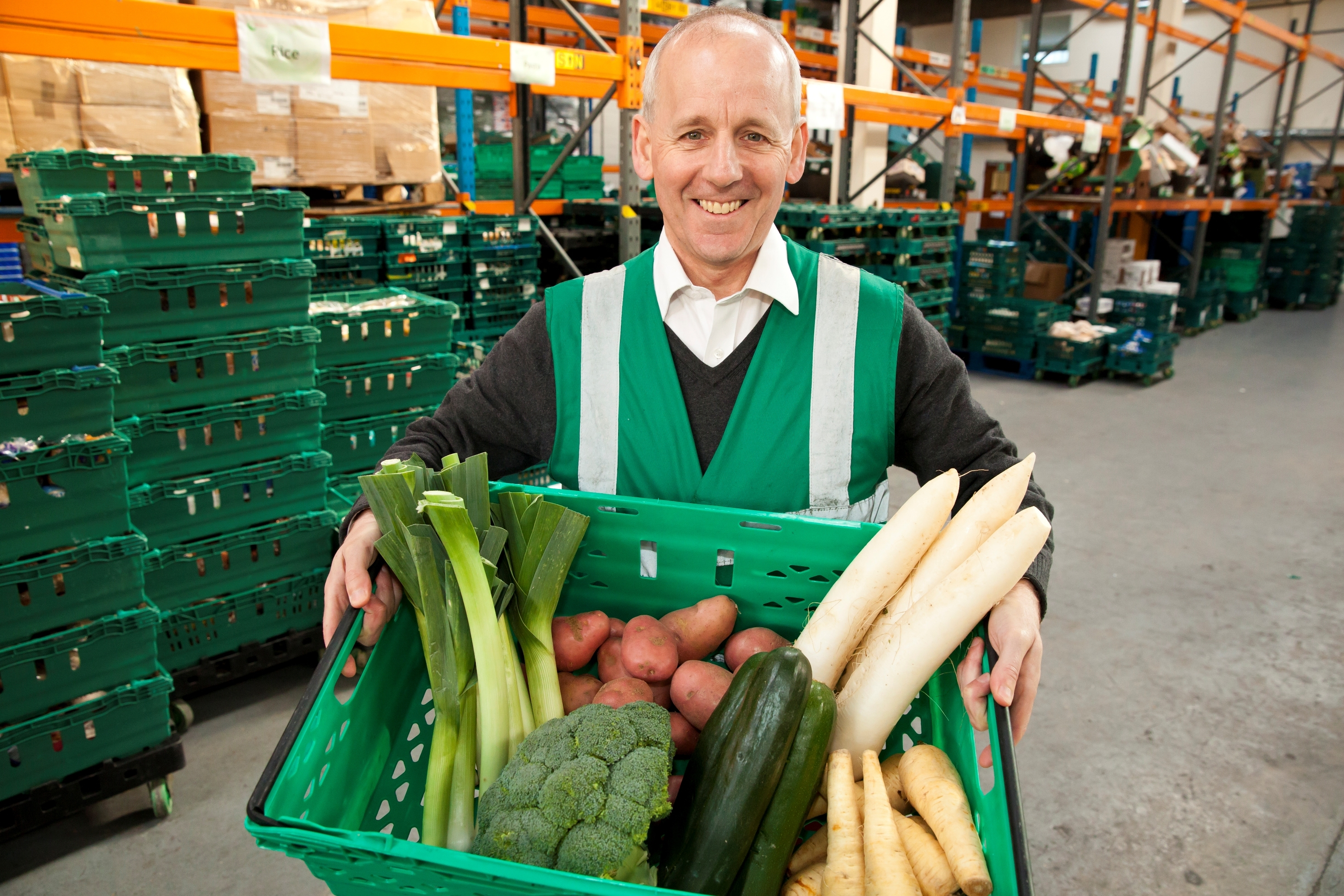 "FareShare CEO Lindsay Boswell believes food ""waste"" could provide 800 million meals for vulnerable people across the UK each year."