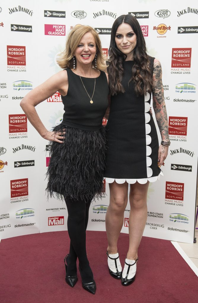 Singer Clare Grogan with Amy MacDonald at last years Scottish Music Awards