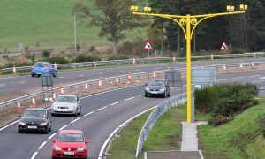 Average speed cameras are already in place on the A9.