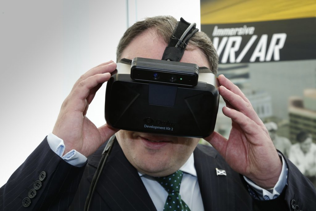 Scottish Energy Minister Paul Wheelhouse viewing the digital clone.
