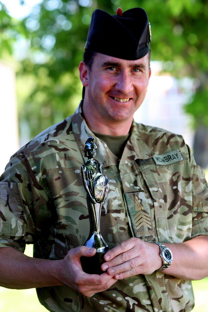 Sergeant Alan Mowbray with the Brit Award. the whole experience was surreal