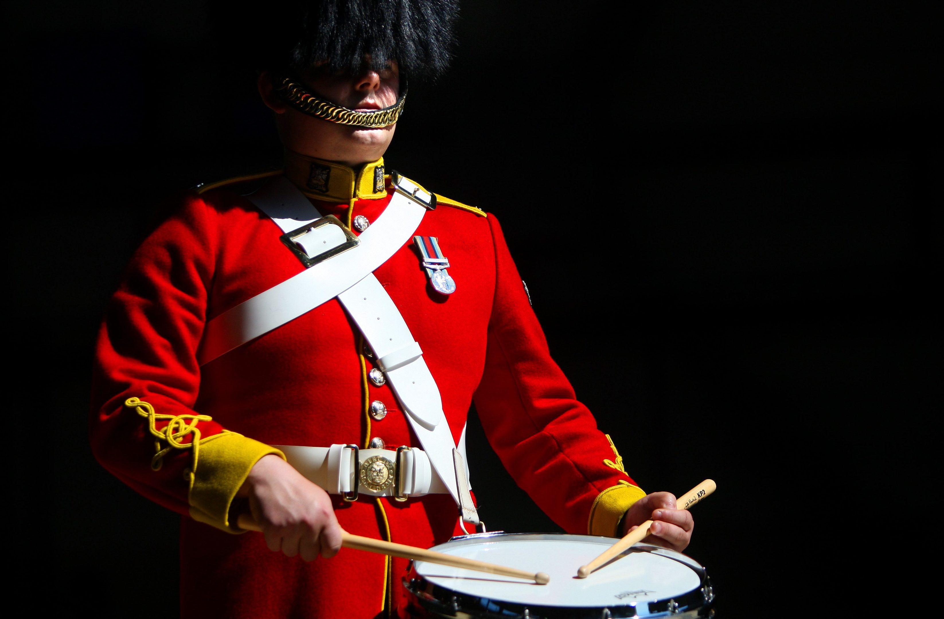 Trooper David Hall on drums