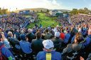 Golf fans at the 2014 Ryder Cup at Gleneagles.