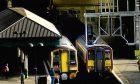 Trains stand idle at Edinburgh Waverley during the rail dispute.