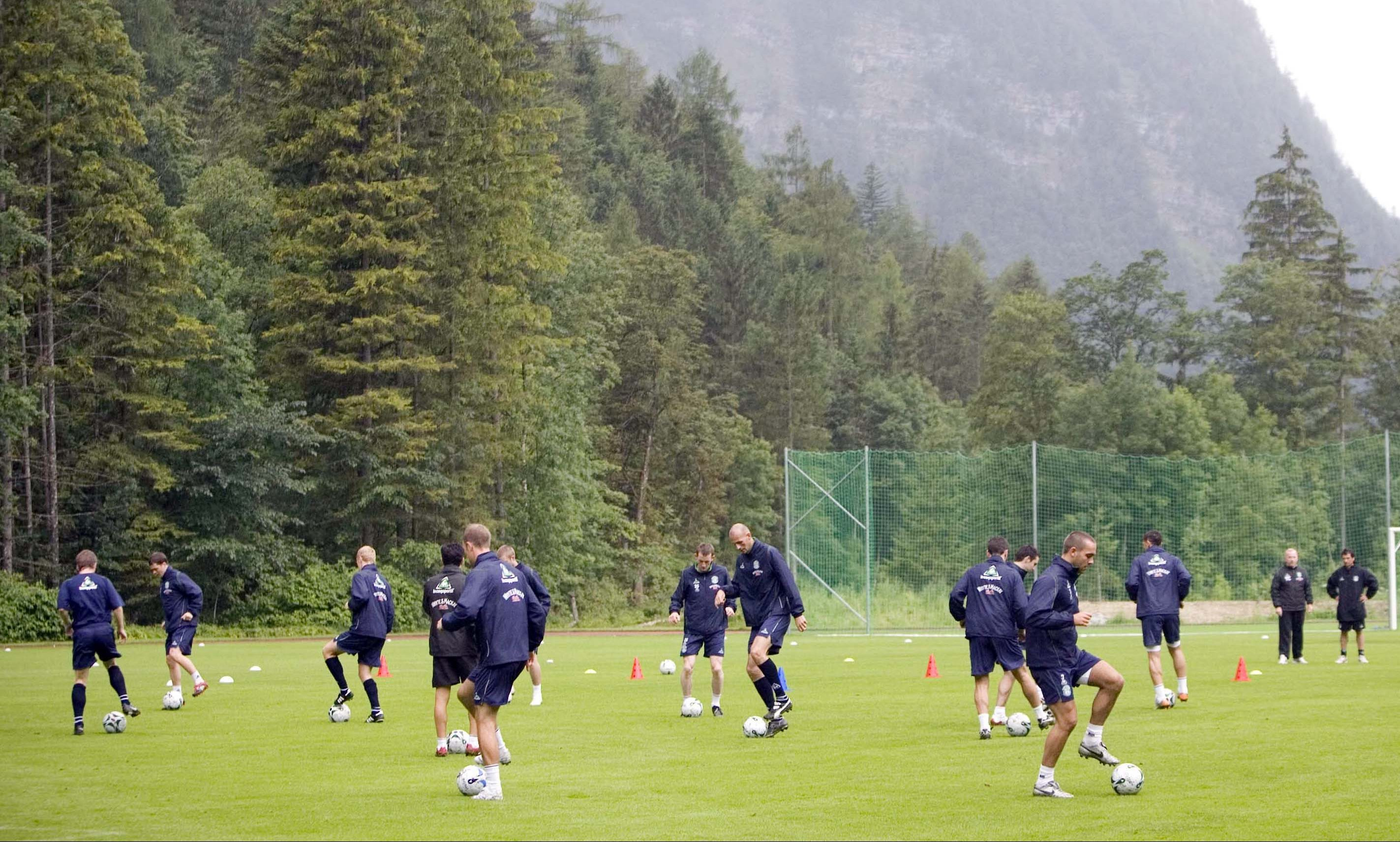 The Obertraun complex has become a popular pre-season base for Scottish sides.