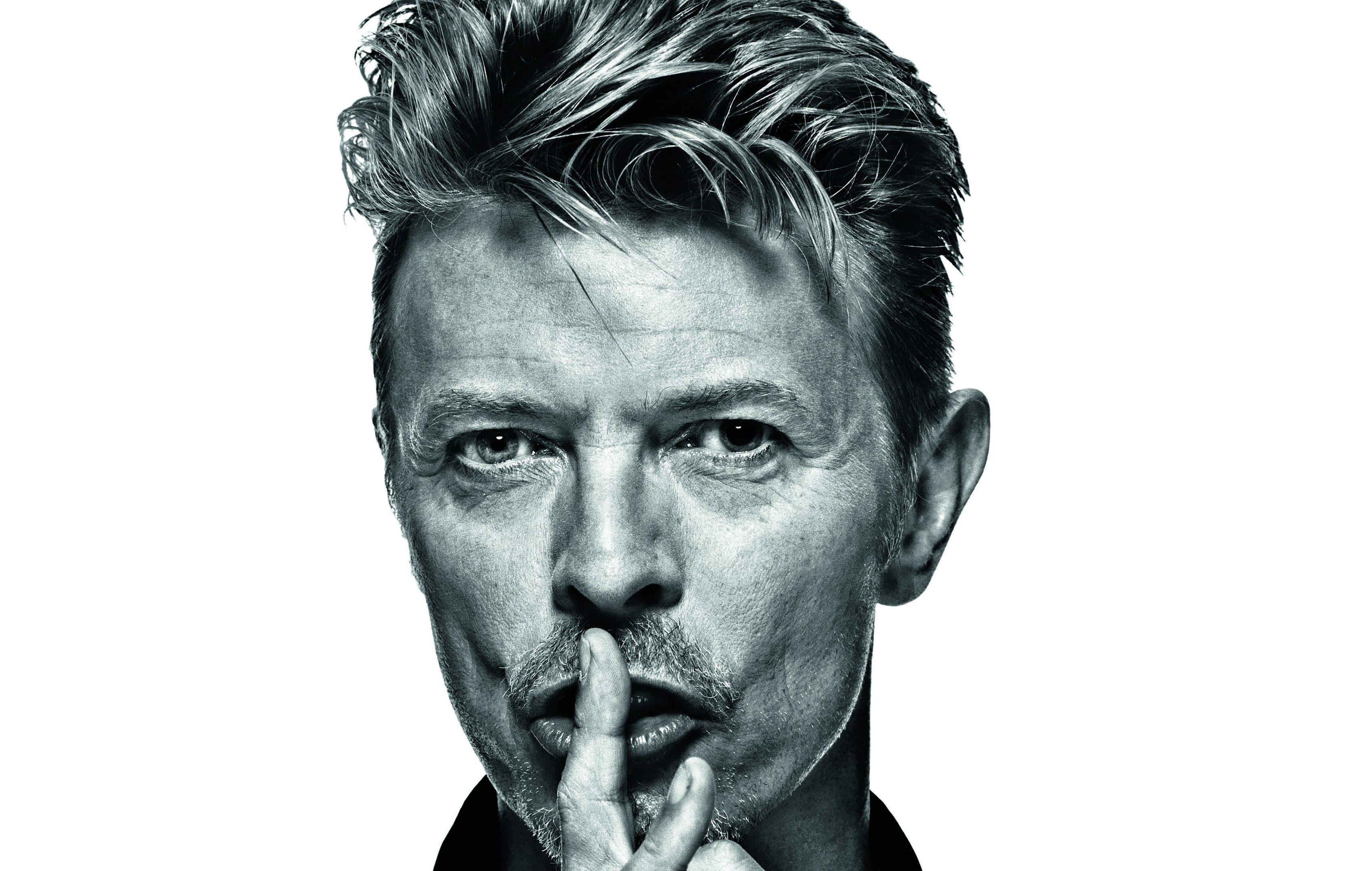 Portrait of David Bowie.
