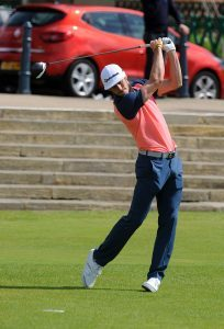 Gareth Bale plays the Old Course in St Andrews. (c) David Wardle